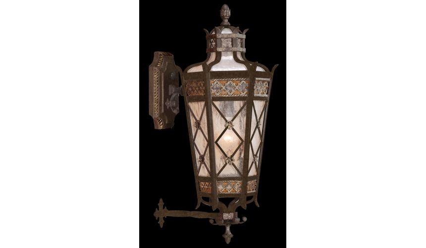 Lighting Medium top wall mount of solid brass