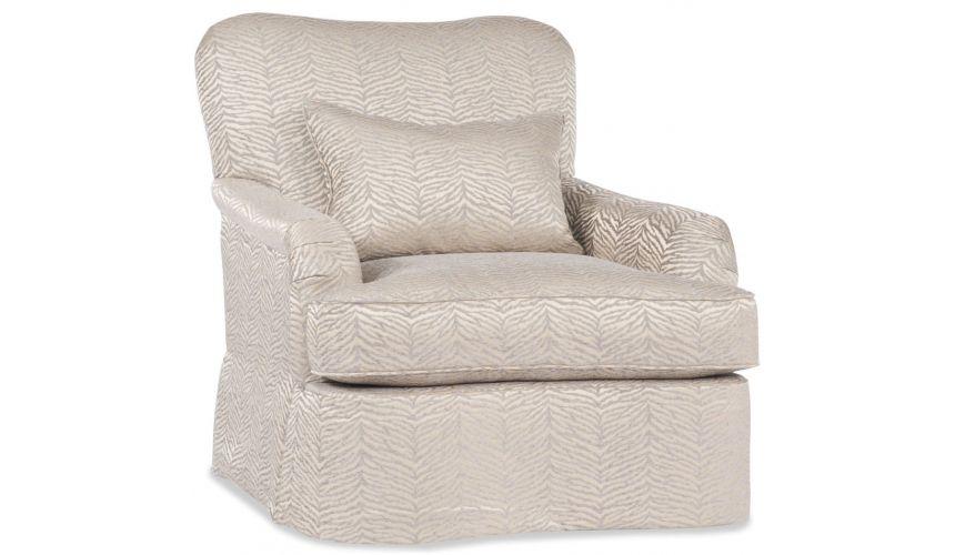 Modern Furniture Cream Rounded Corner Chair