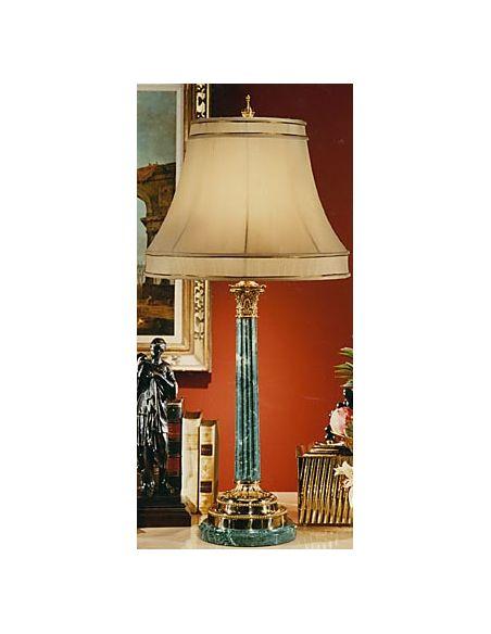 Decorative Accessories Aqua Blue Brass Lamp