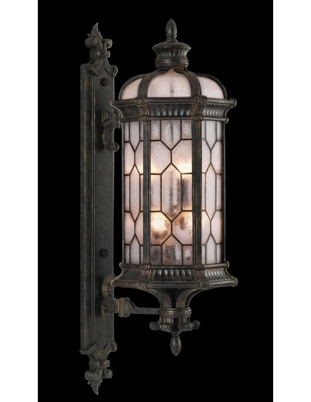 Lighting Large wall mount of antiqued bronze finish with subtle gold accents