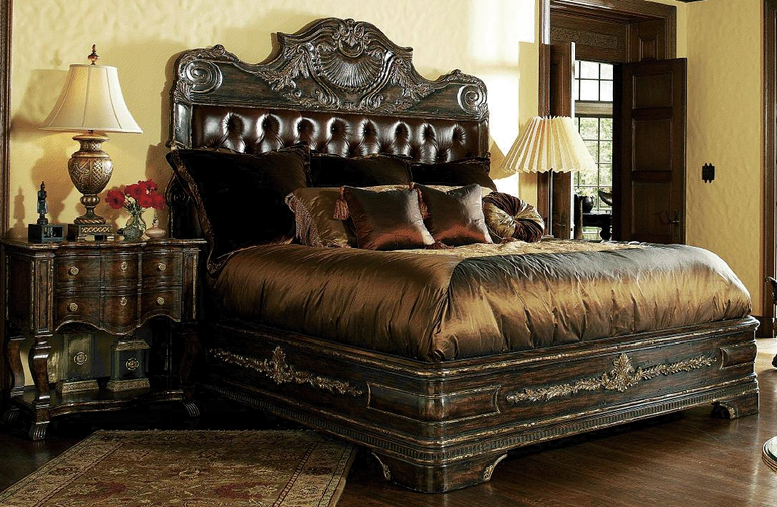 High End Master Bedroom Sets Carvings And Tufted