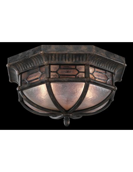 Lighting Flush mount in antiqued bronze finish with subtle gold accents