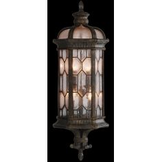 Large wall mount coupe in antiqued bronze finish with subtle gold accents