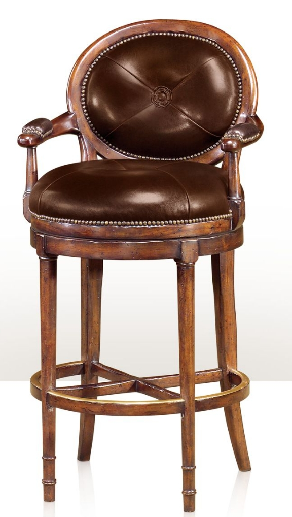 Barolo bar stool for Luxury leather bar stools