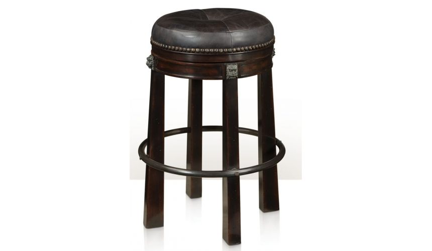 Upscale Bar Furniture Leather Bar Stool