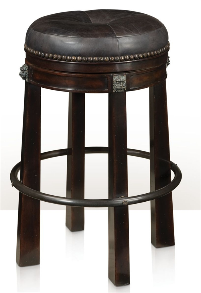 Leather bar stool for Luxury leather bar stools