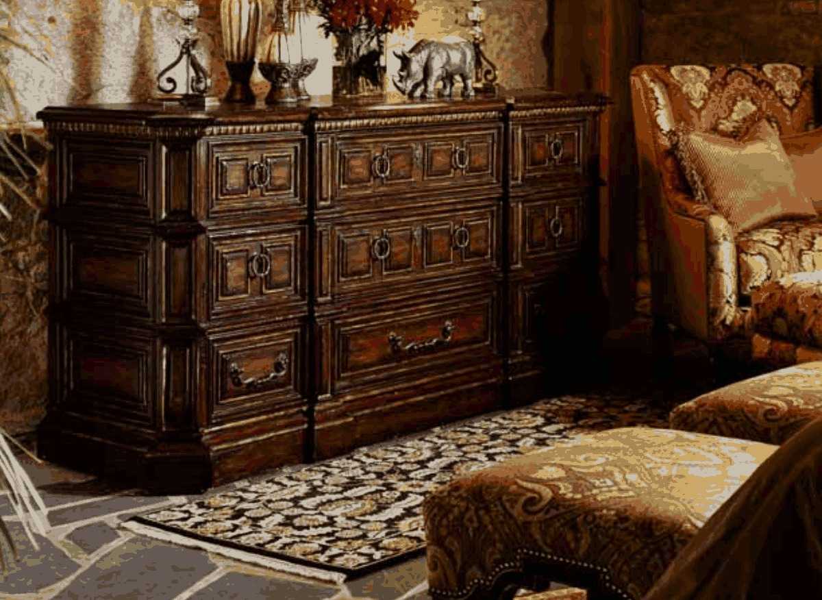 Bedroom Sets High End 1 high end master bedroom set carvings and tufted leather headboard