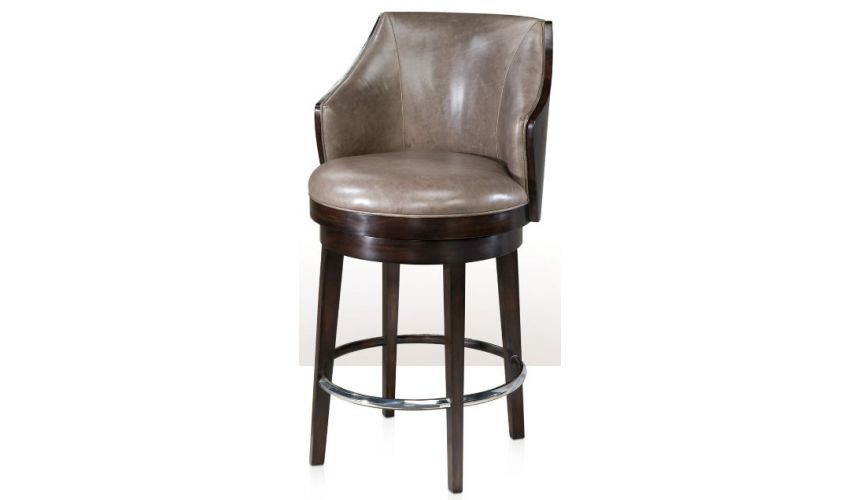 Modern Furniture Modern leather bar stool