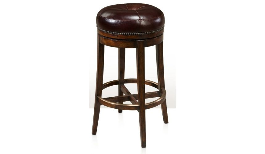 Luxury Leather & Upholstered Furniture The Barolo Swivelling Bar Chair