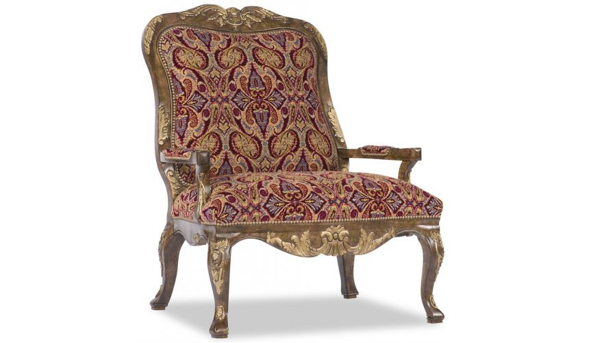 Luxury Leather & Upholstered Furniture Royal Arm Chair