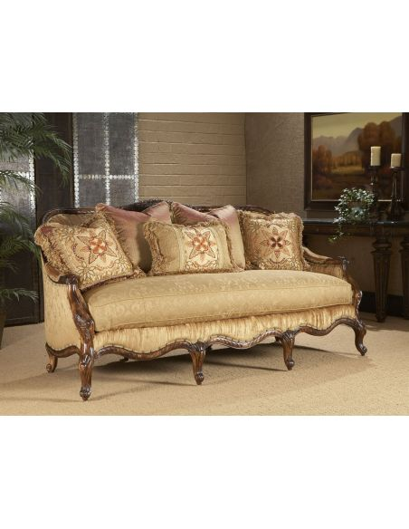 Luxury Leather & Upholstered Furniture Fancy Parlor Sofa
