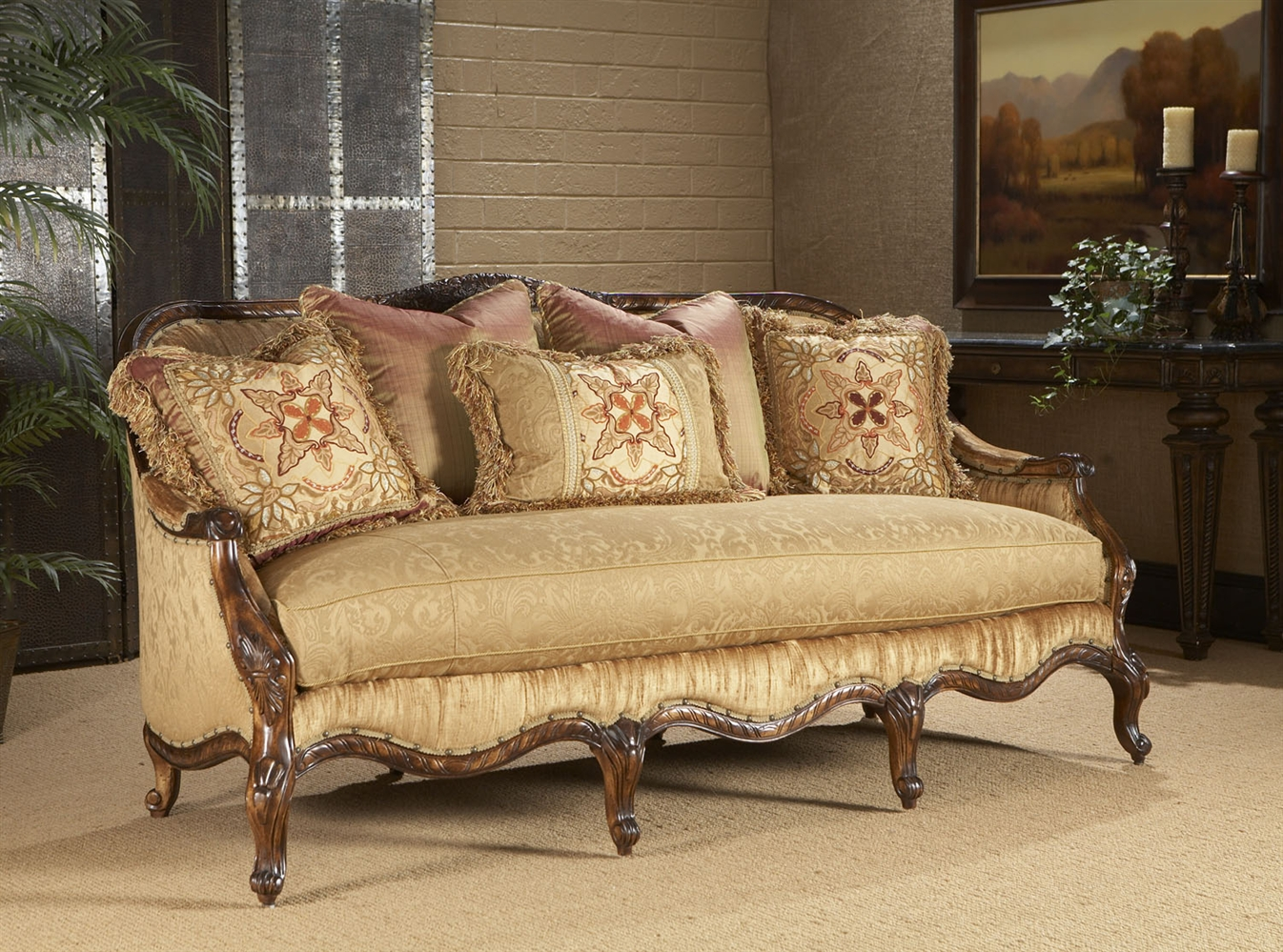 Luxury Leather U0026 Upholstered Furniture Fancy Parlor Sofa