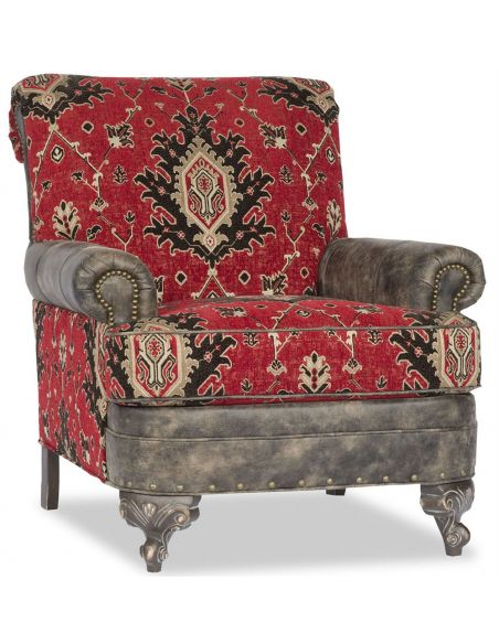 Tapestry Leather Chair