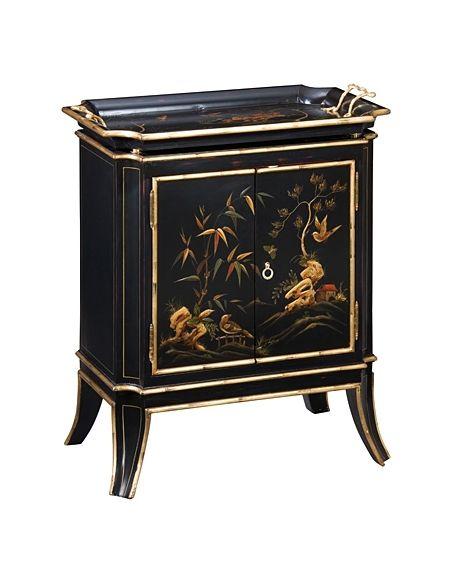 Breakfronts & China Cabinets 55-39 Solid walnut wood Ebonized rub thru Sideboard/Buffet
