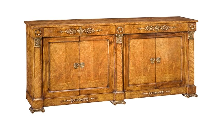 Breakfronts & China Cabinets 55-5 Solid walnut wood Solid oak wood Sideboard/Buffet