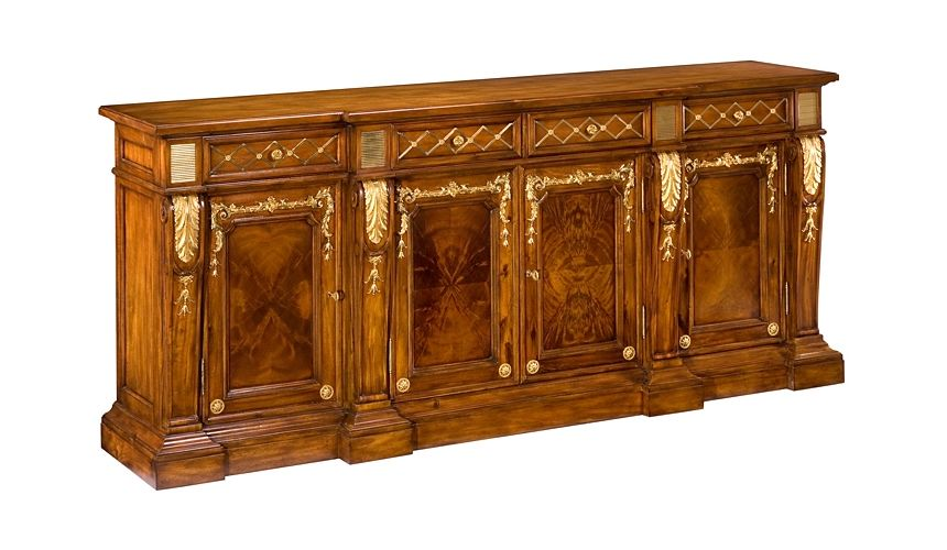 Breakfronts & China Cabinets 55-78 Solid walnut Sideboard/Buffet