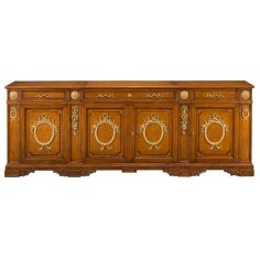55-91 Solid walnut wood Sideboard/Buffet
