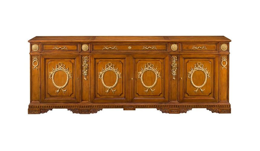 Breakfronts & China Cabinets 55-91 Solid walnut wood Sideboard/Buffet