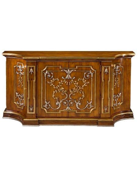 Home Bar Furniture 55-97 Old World Walnut finish Sideboard/Buffet