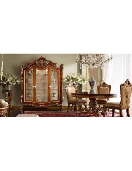 Breakfronts & China Cabinets High end display cabinet. Furniture masterpiece collection.