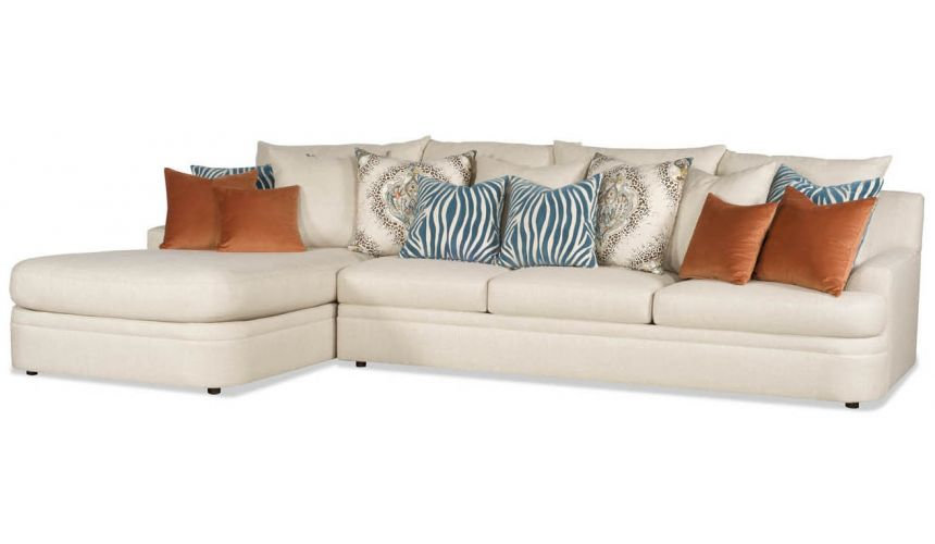 Luxury Leather & Upholstered Furniture Sofa with a chaise