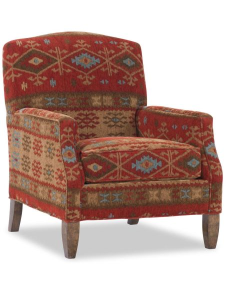 Luxury Leather & Upholstered Furniture Chair with a Western Flair