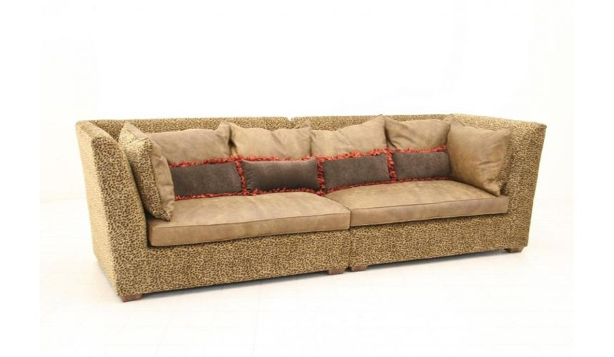 Luxury Leather & Upholstered Furniture Bobcat Fabric Sofa-sofa, chair, leather, fabric