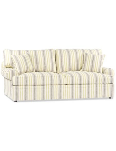 SOFA, COUCH & LOVESEAT White Pinstripe Sofa