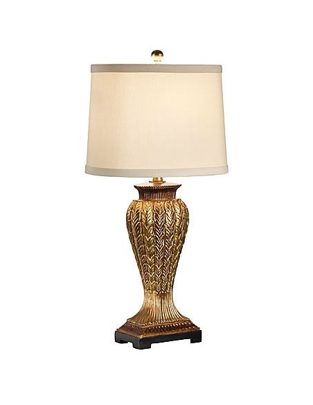 Lighting Inverted Vase Gold Leaf Lamp
