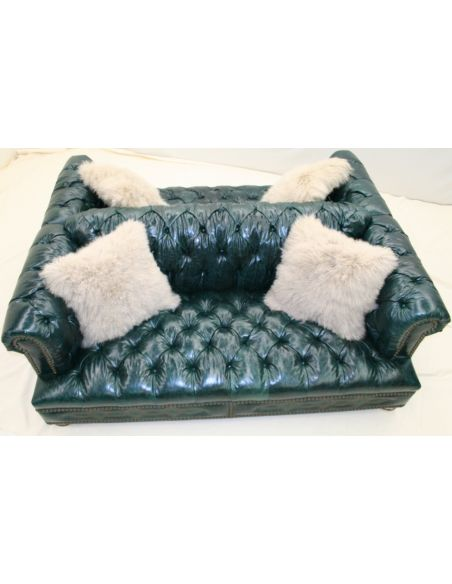SOFA, COUCH & LOVESEAT Double Back 2 Back Tufted Chesterfield 1018