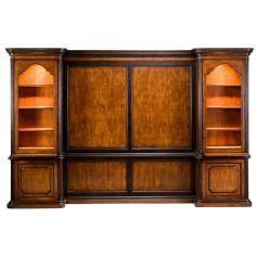57-36 veneer Walnut Finish Bookcase