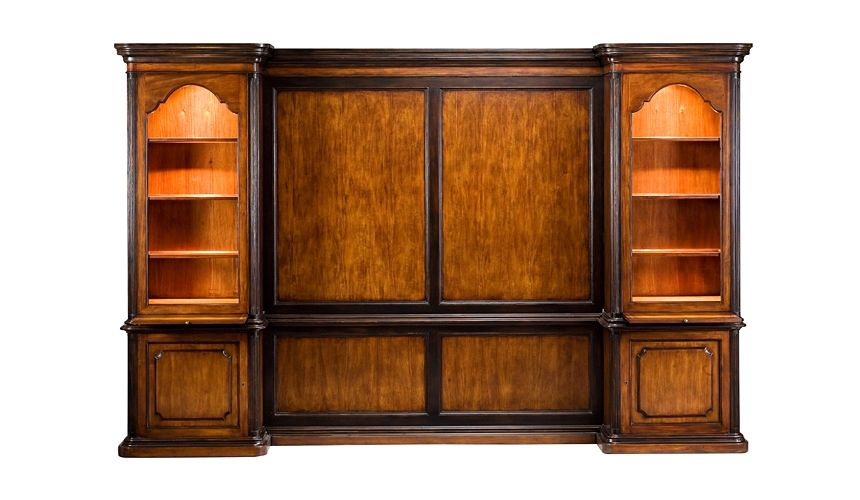 Bookcases 57-36 veneer Walnut Finish Bookcase