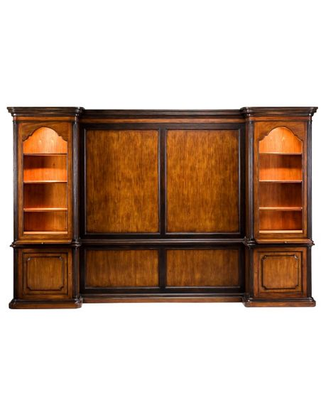 Bookcases 57-36 veneer Walnut Finish Bookcase