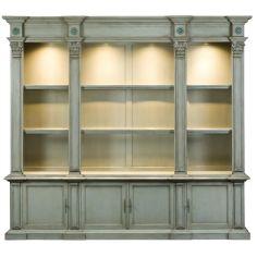 57-42 Solid walnut wood bookcase