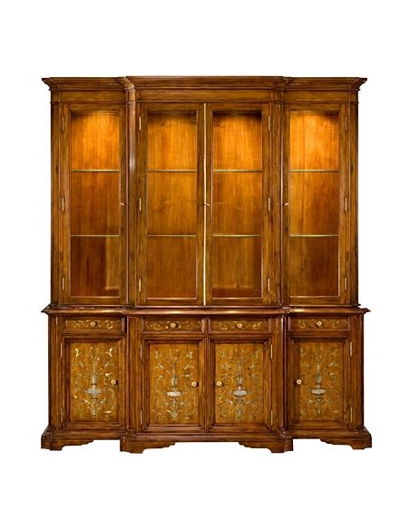 Bookcases 57-53 Old world walnut finish Bookcase