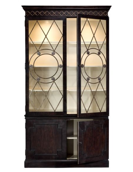 Breakfronts & China Cabinets Oak display or china cabinet