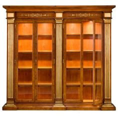 57-56 Solid walnut wood Bookcase