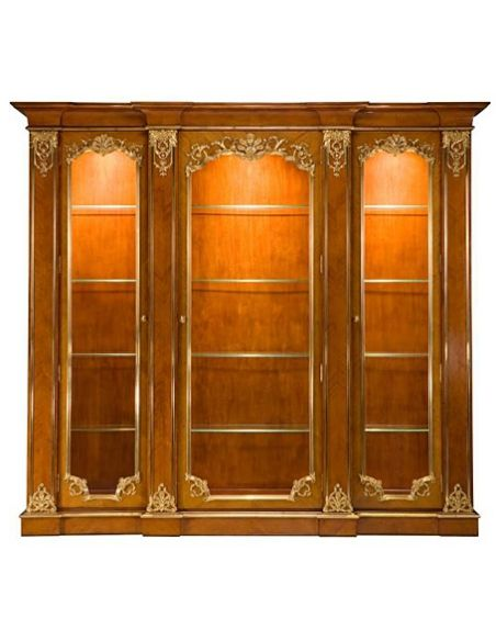 Bookcases 57-59 tempered glass shelves Bookcase