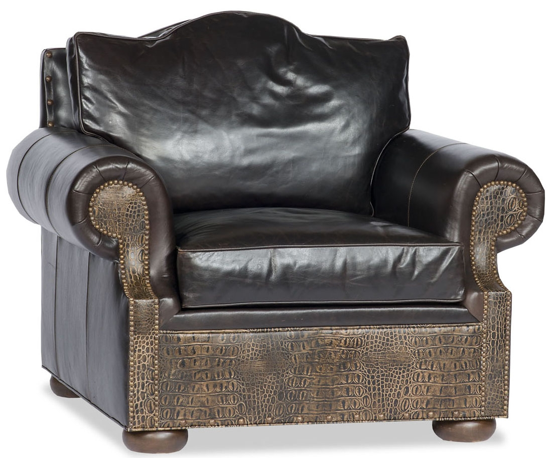 Luxury Leather Upholstered Furniture Comfy Chair Two Tone