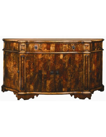 Breakfronts & China Cabinets European inspired breakfront of burl wood. 5762