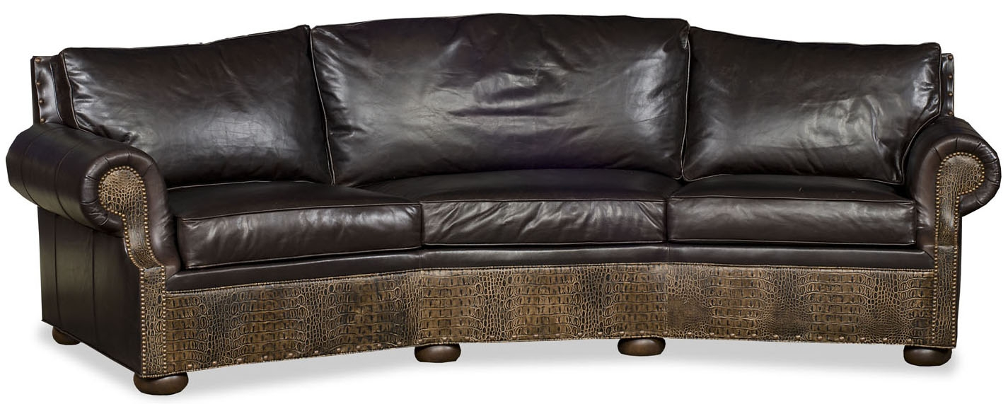 Ordinaire SOFA, COUCH U0026 LOVESEAT Curved Leather Sofa