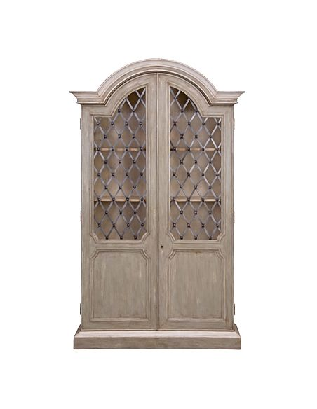 Breakfronts & China Cabinets 58-4 Lime green finish Entertainment Cabinet/Armoire