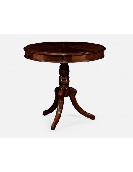 Round & Oval Side Tables Rounx Pedestal table