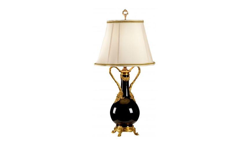 Lighting Brass Mounted Bottle Lamp