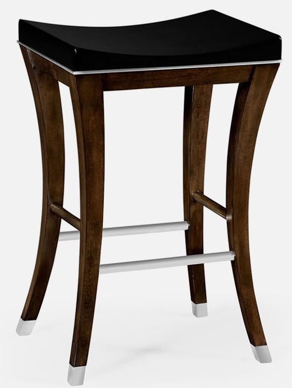 Transitional counter stool for Luxury leather bar stools