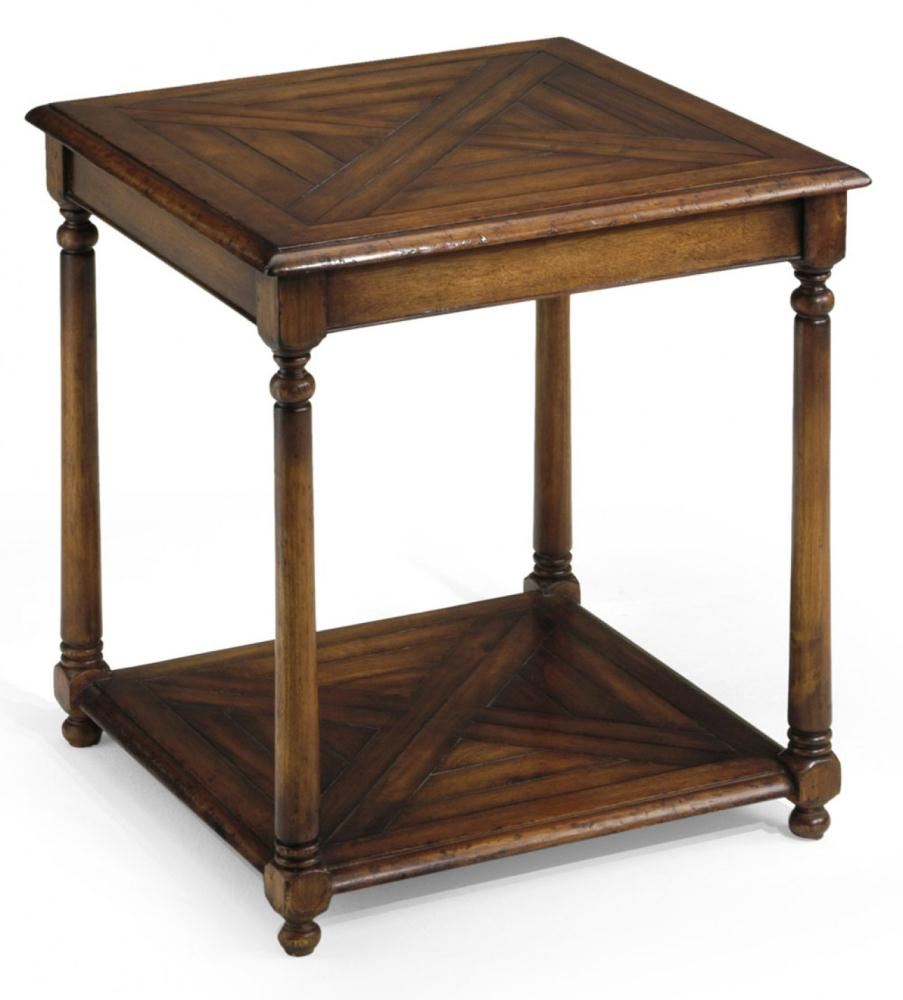 End Table with Parquet Top Library Office Furniture