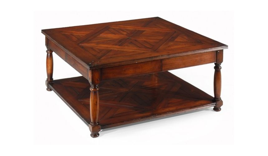 Coffee Tables Coffee table Parquet Square with a parquet top