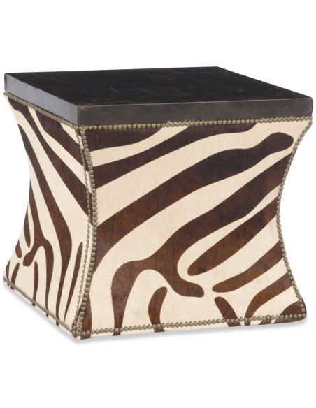 Luxury Leather & Upholstered Furniture Zebra Print Table Mirror