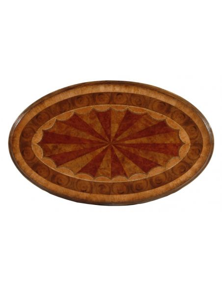 Round & Oval Side Tables High Quality Furniture Oval Marquetry Side Table