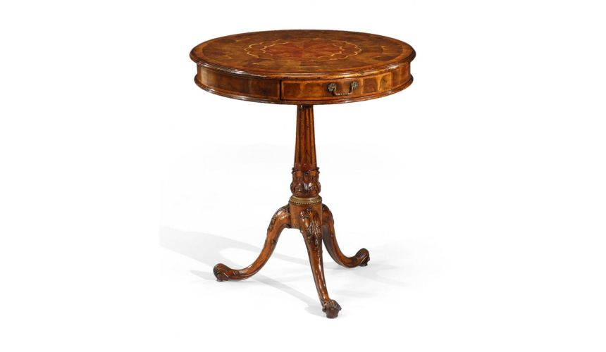 Round & Oval Side Tables Oyster Veneer Wine Table Home Accessories